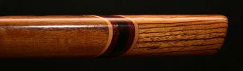 Curly Walnut and Zebrawood Native American Style Flute