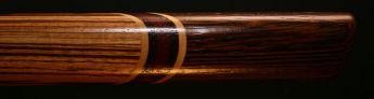 Zebrawood and Wenge Native American Style Flute