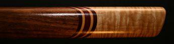 Curly Walnut and Curly Maple Native American Style Flute