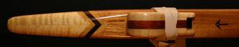 Canarywood and Curly Maple Native American Style Flute