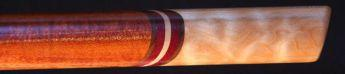 African mahogany and quilted maple Love Flute boar