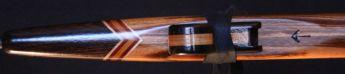 Mesquite and macasar ebony Love Flute mouthpiece