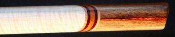 Curly maple and canarywood Love Flute boar