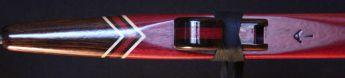 Purpleheart and macasar ebony Love Flute mouthpiece