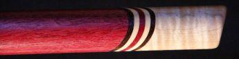 Purpleheart and curly maple Love Flute