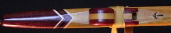 Yellowheart purpleheart Love Flute mouthpiece