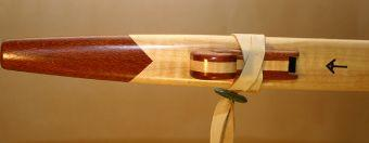 Curly Maple and Lacewood Love Flute